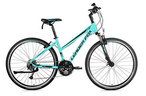 28 Zoll Alu Leader Fox Daft Lady Fahrrad Cross Bike Shimano türkis RH 46cm
