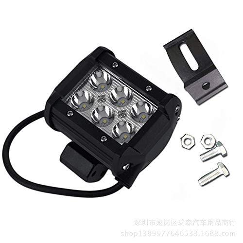 PoJu La lumière de bandes de LED allume la voiture tout-terrain réaménagée étanche 4 lumière de travail auxiliaire de pouce 18W 6 lumières double rangée de lumières menées lumineuses (paire)