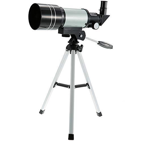 WANGLXST 70mm Telescopio Adultos Principiantes Telescopio Astronomico Profesional con Trípode, para Observación de Aves, Silvery