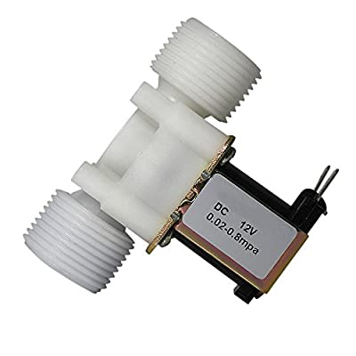 """Fankerba 3/4"""" Water Inlet Electric Solenoid Valve DC 12V Normally Closed N/C 0.02 to 0.8mpa - Plastic Two parallel Screw Thread by Fankerba"""