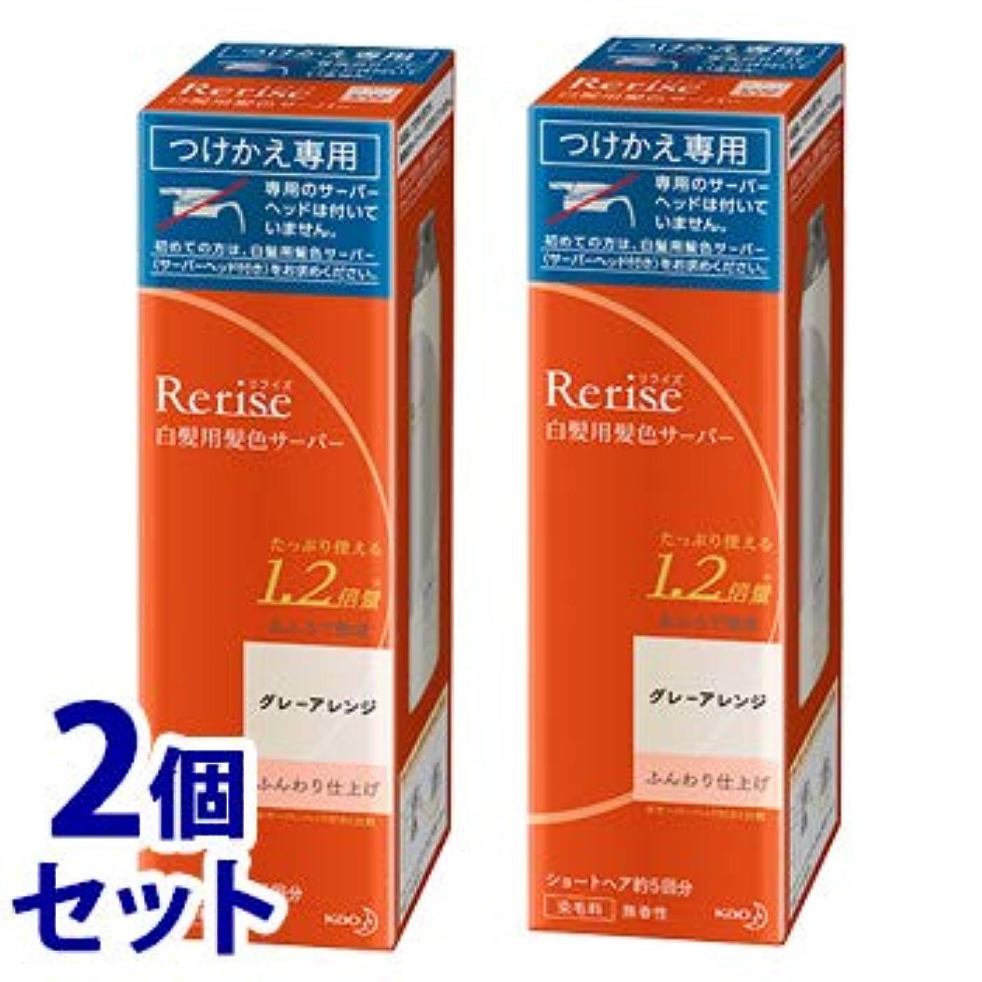 一生業界《セット販売》 花王 リライズ 白髪用髪色サーバー グレーアレンジ ふんわり仕上げ つけかえ用 (190g)×2個セット 付け替え用 染毛料