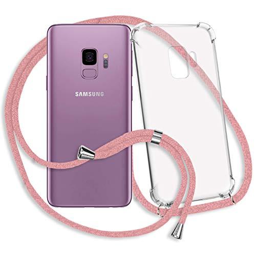 mtb more energy® Handykette kompatibel mit Samsung Galaxy S9 (SM-G960, 5.8'') - rosa - Smartphone Hülle zum Umhängen - Anti Shock Strong TPU Case