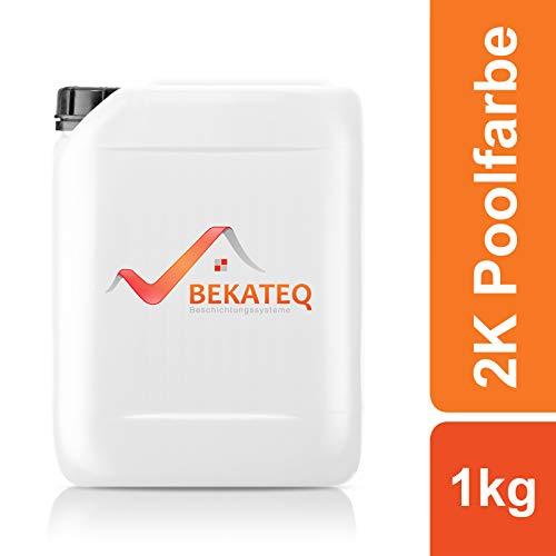 BEKATEQ 2K Epoxidharz Poolfarbe BK-800EP in RAL-Farben - RAL9017 Verkehrsschwarz - 1KG