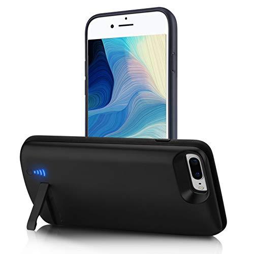 Gladgogo Cover Batteria per iPhone 6 plus/6S plus/7 plus/8 plus, 8500mAh Cover Ricaricabile Custodia Batteria Cover Caricabatteria Battery Case con Cavalletto, [5,5']Carplay Supportato Charger Case