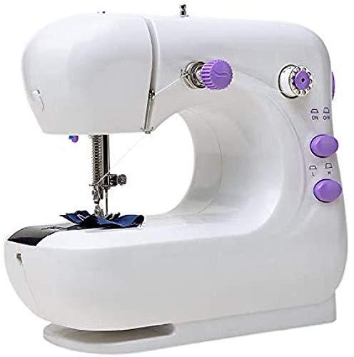 FTYUNWE Máquina De Coser Simple con Enhebrador Automático De Agujas,White