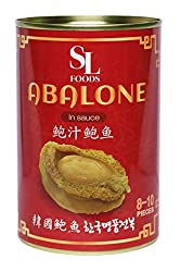 SL FOODS Korean Premium Canned Abalone, In Sauce, 450 grams