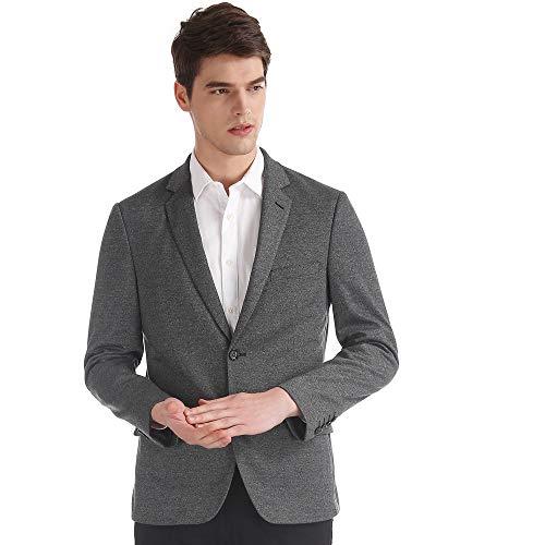Arvind Grey Modern Slim Fit Heathered Blazer