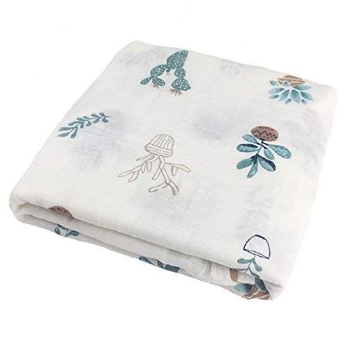Swaddle Blanket - Musel Swaddle Square Mantas, Baby Swaddle Wrap Ropa de cama Mantas Recibiendo Manta Wrap para recién nacido bebé 120 x 120 cm