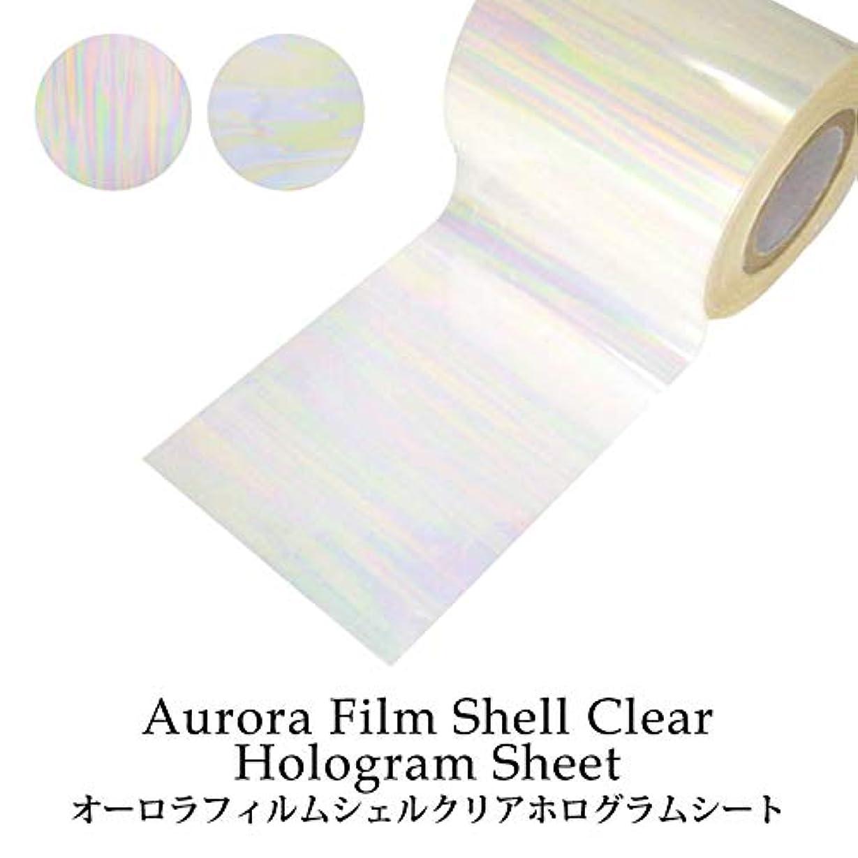 ペレグリネーションシンプルさ四面体オーロラフィルム シェルクリア ホログラムシート(1-2) 1枚入り (1.シェルクリア(縦))