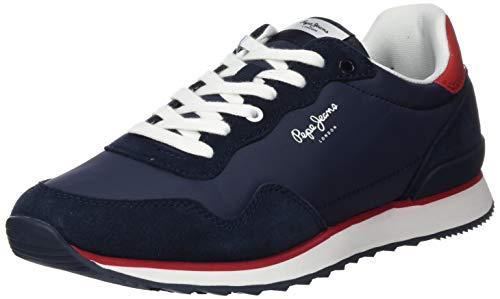 Pepe Jeans Cross 4 Basic, Zapatillas para Hombre, Azul Marino 595, 44 EU
