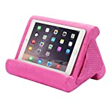 Flippy iPad Tablet Stand Multi-Angle Compact Lap Pillow for Home, Work & Travel. Our iPad and Tablet Holder Has Three Viewing Angles for All iPads, Tablets & Books. (in The Pink Baby, Single)