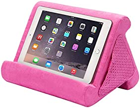 Flippy Fun Size, Compact Multi-Angle Soft Pillow Lap Stand for Mini iPads, Tablets, eReaders, Smartphones, Books, for All Ages, Easy to Store and Travel with (in The Pink Baby, Single)