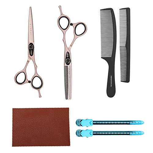 Tijeras de corte de pelo Tijeras de salón de 6 pulgadas Herramientas de peinado para salón de peluquerías