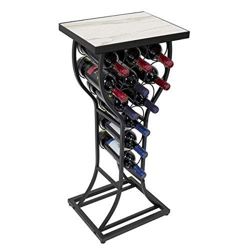 YWYW Organize Kitchen Wine Bottle Holder  11 Wine Rack with Table top  Floor Standing Metal Wine Rack for Kitchen/Pub/bar/Club cellars