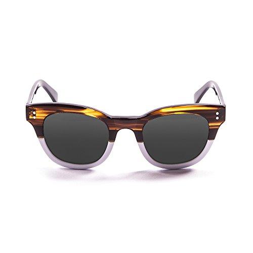 Ocean Eye Gafas de sol, Marrón (Marrone/bianco), 47 Unisex Adulto