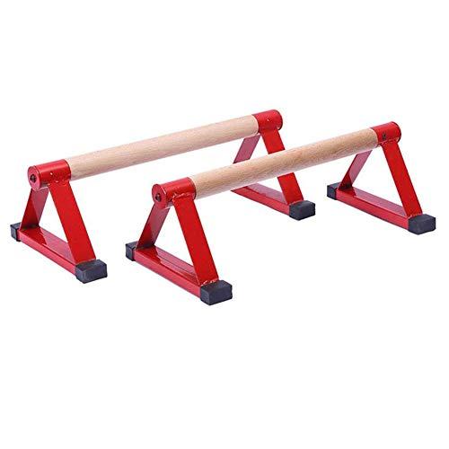 DYYTR Liegestütze Stangen liegestütze Griff, Holz Männlich Personalisierte Stangen Holz Push Up Bar Handstand, Fitnessgeräte zum Üben Brustmuskeln