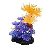 Simulación Coral, decoración brillante del tanque de pescado del silicón del color para el acuario