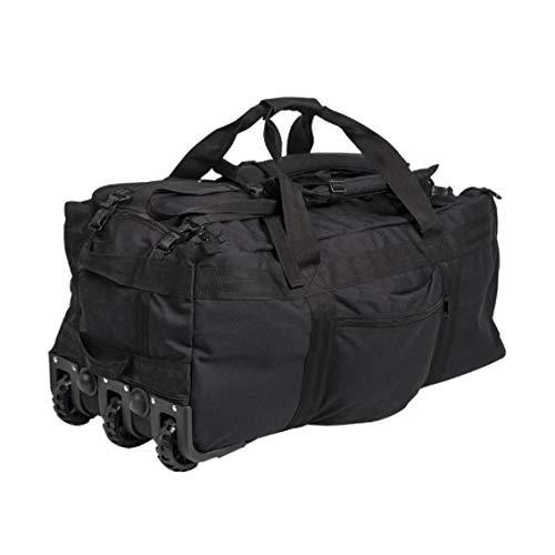 Miltec USA Duffle Valigia da viaggio 120 l | Valigia molto grande da combattimento capacità 120 l MILTEC Black Combat con ruote