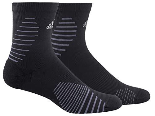 adidas Unisex Laufsocken, mittlere Crew-Socken (1 Paar) Größe L Schwarz/Onix/Silber reflektierend