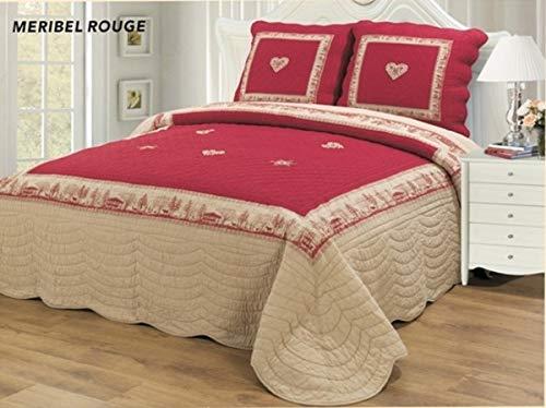 Alpes Blanc Couvre lit Meribel Rouge 230x250