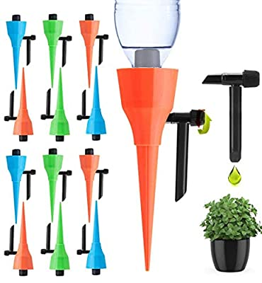 ?2020 New?Plant Self Watering Spikes Devices, Automatic Irrigation Equipment Plant Waterer with Slow Release Control Valve, Plant Self Waterer with Constant Water Pressure & Anti-Stop Dripping Design by Ankda