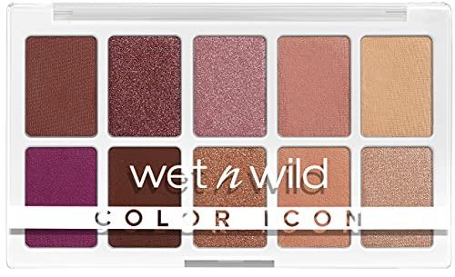 Wet n Wild Paleta Color Icon 10-Pan, Paleta de Sombras de Ojos, 10 Colores Intensamente Pigmentados para El Maquillaje Diario, Fórmula de Larga Duración y Fácil de Difuminar, Heart & Sol 630 g