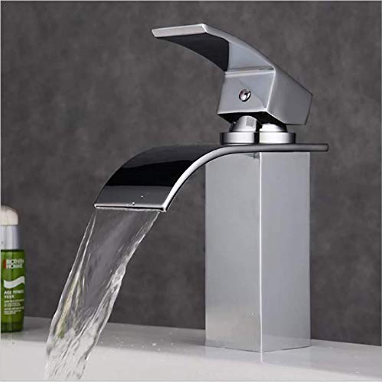 Jukunlun Waterfall Basin Faucet Mixer Chrome Basin Mixer Tap Faucet Bath Tap Mixer Bathroom Faucet Mixer Wash Basin Taps