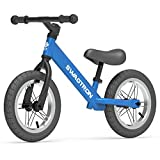 Swagtron K3 12' No-Pedal Balance Bike for Kids Ages 2-5 Years | Air-Filled Rubber Tires | 7 lbs Lightweight | 12'~16' Height Adjustable Seat | ASTM-Certified