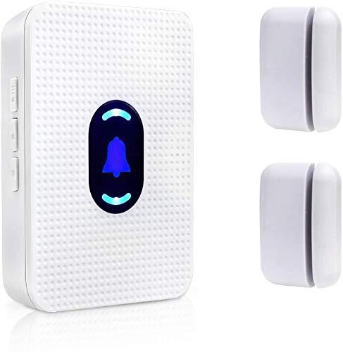 Daytech Wireless Türsensor Magnetischer Alarm Glockenspiel-Eingangsalarm für die/Garage/zu Hause/Einzelhandelsgeschäft/Wohnung/Büro Sicherheit (1 Empfänger & 2 Magnetsensor)
