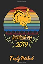 Happy Thanksgiving Day Family Notebook: Lined Journal Paper Wide Ruled Composition Notebook For School Teacher & Students Draw and Write Funny Gift In ... For Turkey 70s & 80s Retro Sunset Lovers