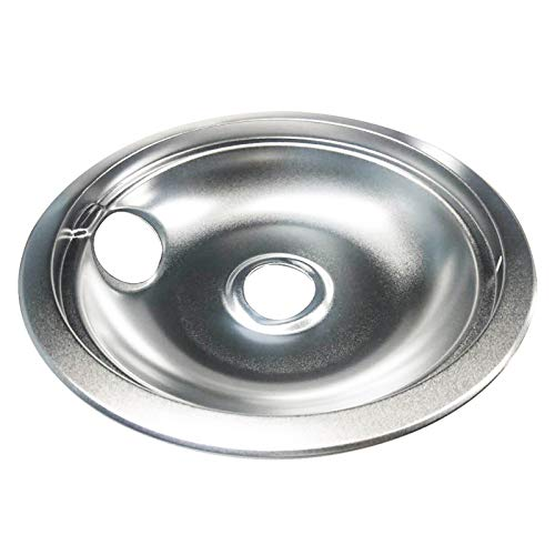 YMHAN Chrome Drip Pan Replacement Fit For Frigidaire Mfg#316048413-6''