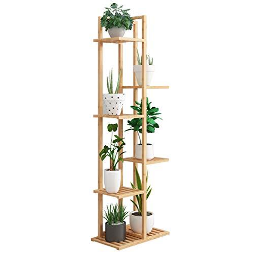 GYX-Gartenarbeit Mehrschichtige Pflanzenpräsentationsständer Flower Stand mit 6-Schicht-Blumentopf-Regal-Garten-Bambusregal-Wohnzimmer-Schlafzimmer-Balkon-Dekoration