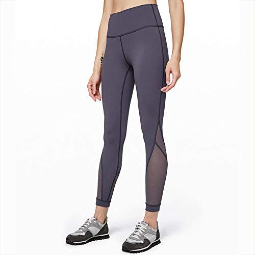 RRUI Leggings voor dames sportkleding panty & leggings voor dames leggings coëfficiënt naden nauw aansluitende plant hoge taille heupen afdrukken yogabroek afbeelding kleur M.