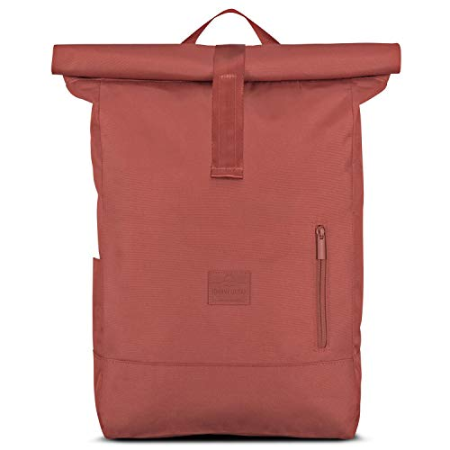 Backpack Men & Women Red - JOHNNY URBAN'Aaron' from Recycled PET - Roll Top...