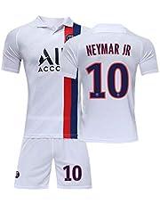 PAOFU-Neymar # 10 fans fotbollströjor för pojkar, män, 19-20 Paris Saint-Germain fotbollströja t-shirts och shorts