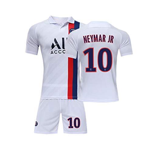 PAOFU-Conjuntos De Jersey De Fútbol Neymar 10# Fans para Niño,19-20 Paris Saint-Germain Camisetas Y Pantalones Cortos De Fútbol