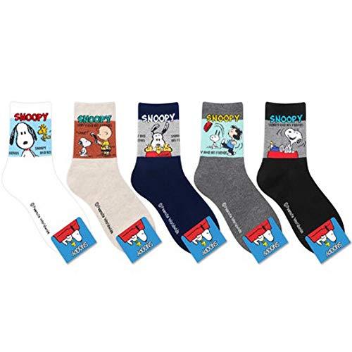 Die Peanuts Comics Charakter Snoopy Mannschafts Socken 5 Paaren