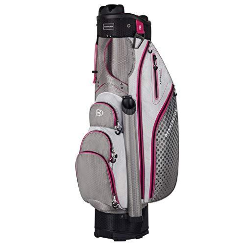 Bennington QO 9 LITE Damen Cartbag, Grau/Weiß/Pink