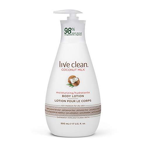 commercial Live Clean Coconut Milk Moisturizing Body Lotion, 17 oz. organic body lotion