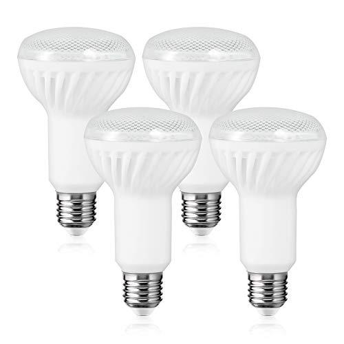 Lampadina con LED Riflettore R80, E27 Techgomade Lampadina LED 15W Equivalente 150W, 1200LM, Bianco Caldo 3000K, Non Dimmerabile, Perfetta per Casa, Ufficio, Confezione da 4