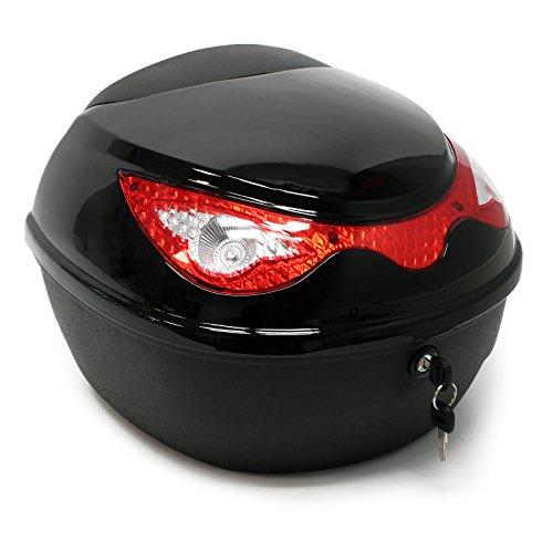 Top Case 22L schwarz Koffer für Roller, Motorrad oder Quad, 22 Liter Helmkoffer Motorradkoffer