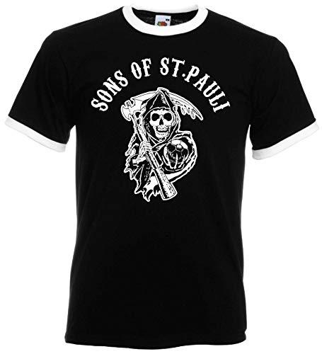 St. Pauli Herren Retro T-Shirt Sons of Sankt Pauli Ultras XXXL