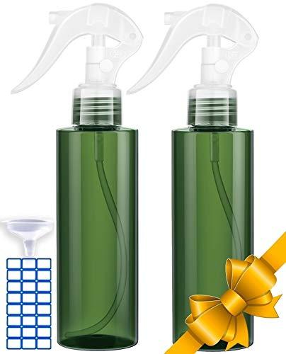 Spray Bottle For Hair - Superior Leak-Proof Travel Bottles - UV Protection Plastic Spray Bottle For Hair - Multi Purpose use Durable - Great Spray Bottles For Cleaning Solutions! (2 Pack 6.7oz/200ml)