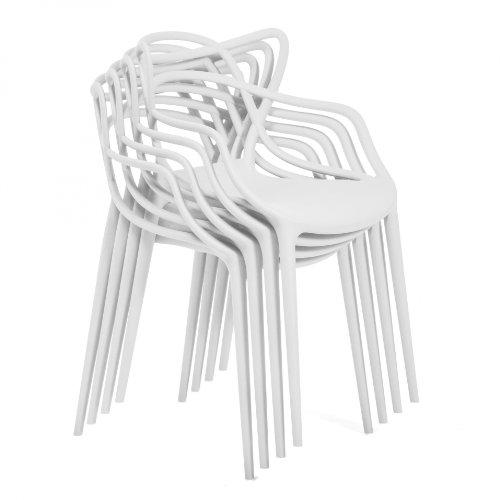 Masters Stuhl 4er-Set, weiß matt