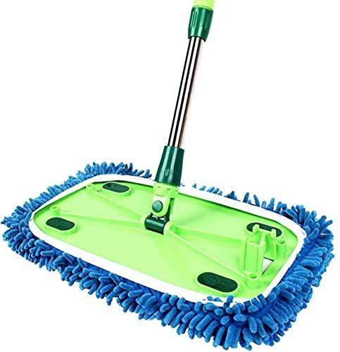 ZXCVBNM MOP, trapeador Plano de la fregona de Polvo de Microfibra para la Limpieza de Azulejos de Cocina para el hogar para Todos los Tipos de Piso