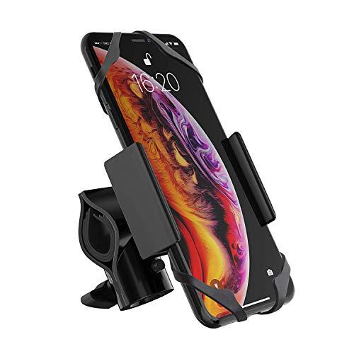 Ipow Universal Fahrrad Handyhalterung 360° Drehbarer Motorrad Handyhalter mit Metall Sockel Stabil Kompatibel mit 3,5-7 Zoll Handys wie iPhone XR, XS, X, 8, Samsung Galaxy S9, S8 usw.