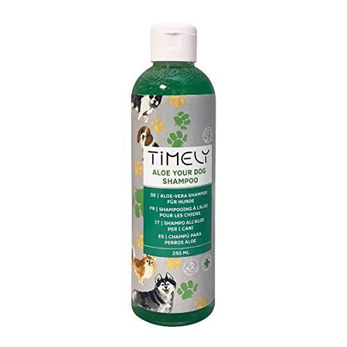 Timely, shampoo per cani con aloe, per pelo liscio - 250 ml