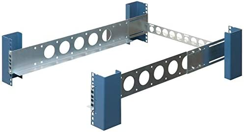 RackSolutions 2U 4-Post Universal Rack Mount Rail Kit with Cable Management Bar for All Servers - Dell HP IBM Lenovo Compatible