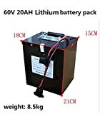 Batteria al litio del triciclo elettrico della batteria del motorino 72Volt della batteria elettrica del motorino 60V 20AH 32AH 50AH di alta potenza 2000W con BMS (72V 20Ah (18cm×15cm×21cm))
