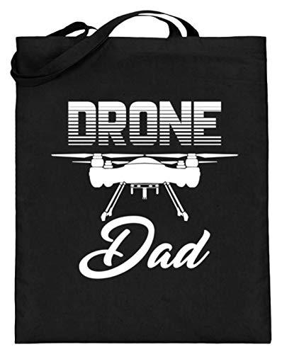 Drone Dad! - Vaderdag Dronenspeelgoed techniek motief - Eenvoudig en grappig design - jute zak (met lange handvatten)